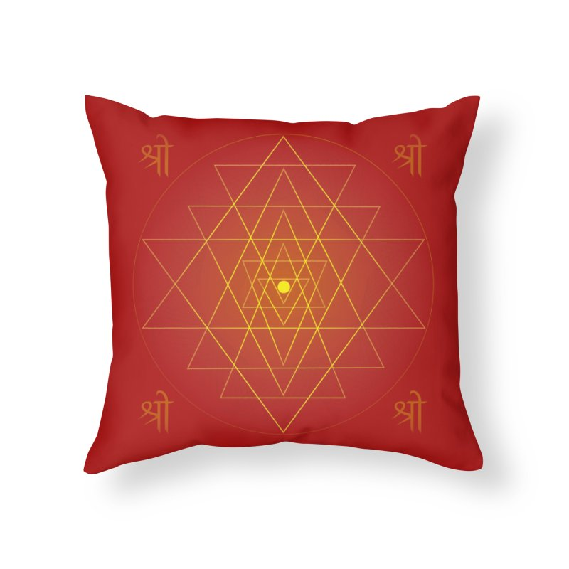 Sri Yantra Home Throw Pillow by Moon Jewel
