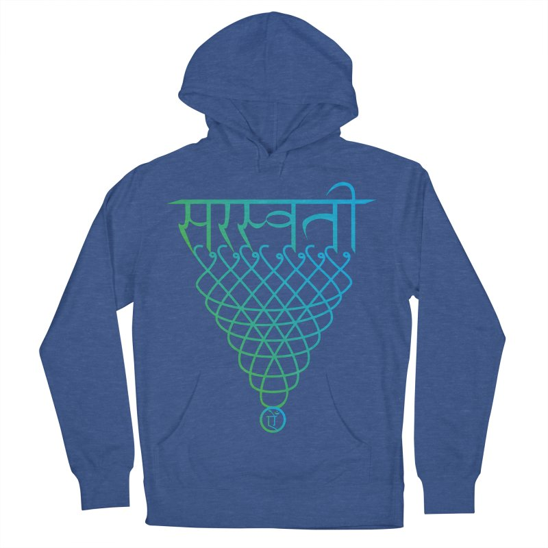 Saraswati Men's French Terry Pullover Hoody by Moon Jewel