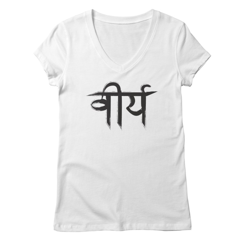 Virya (Courage) Women's Regular V-Neck by Moon Jewel