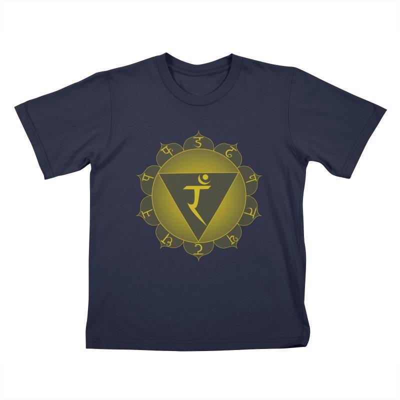 Manipura: Solar Chakra Kids T-Shirt by Moon Jewel