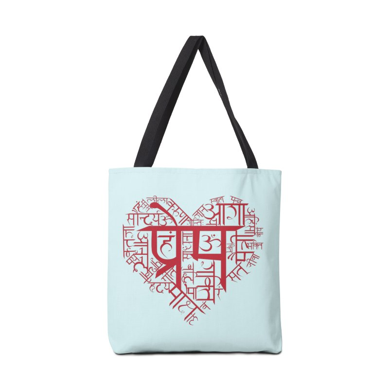 Sanskrit Heart Accessories Tote Bag Bag by Moon Jewel