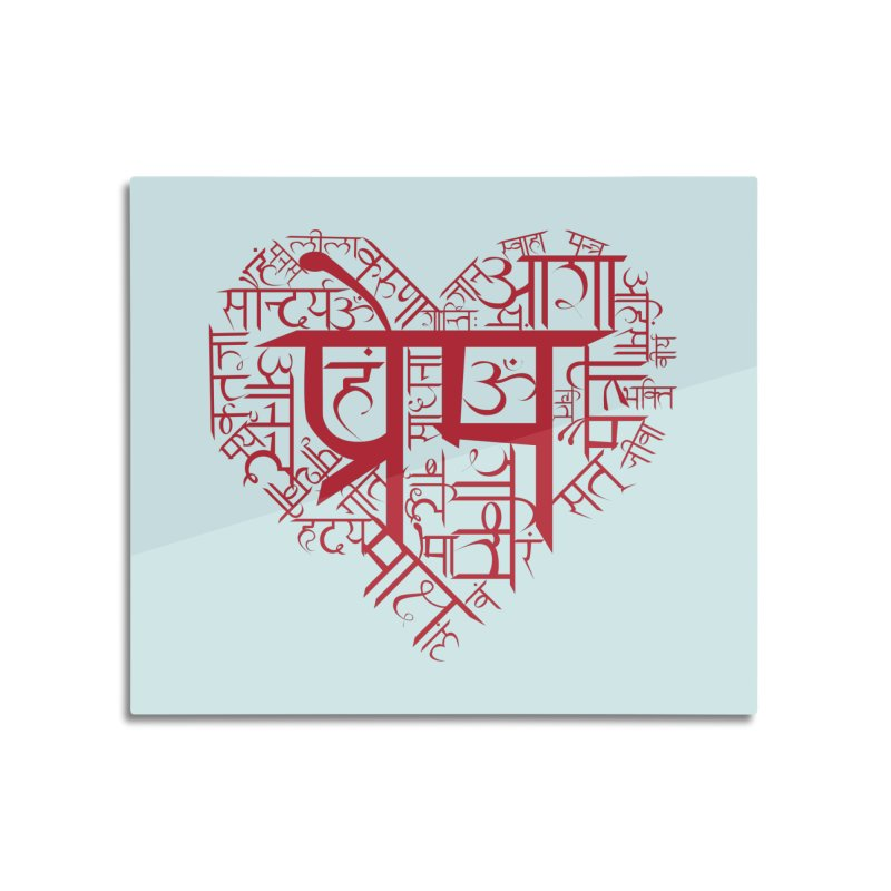 Sanskrit Heart Home Mounted Aluminum Print by Moon Jewel