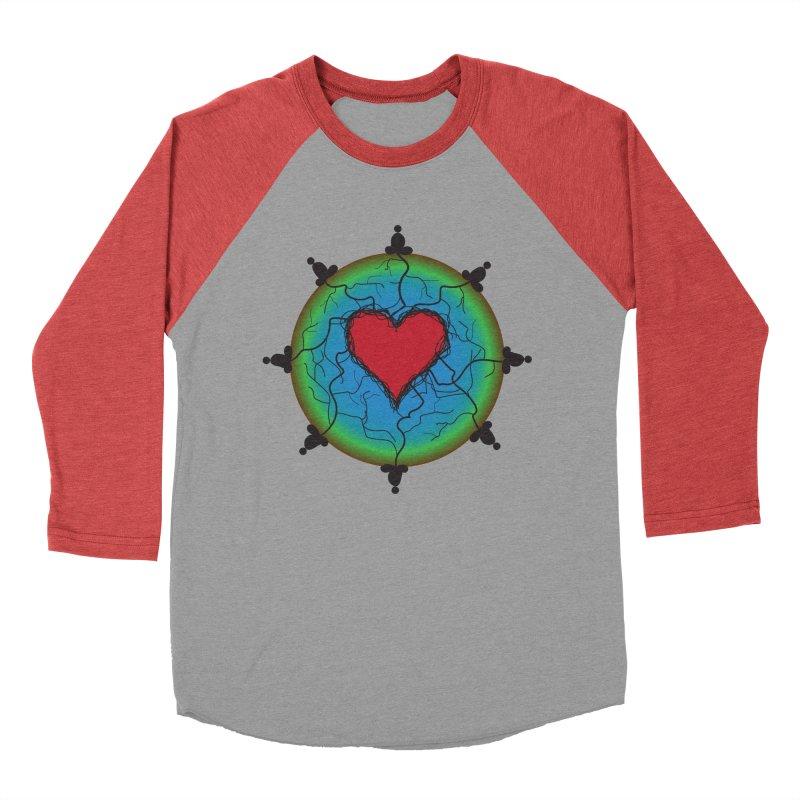 Meditation Men's Baseball Triblend Longsleeve T-Shirt by Moon Jewel