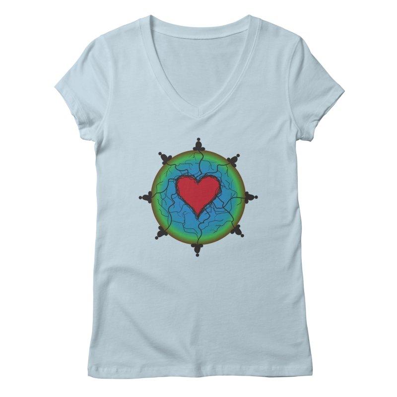 Meditation Women's Regular V-Neck by Moon Jewel