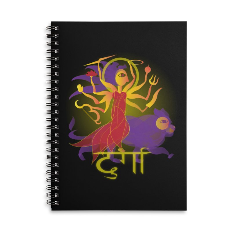 Durga Accessories Lined Spiral Notebook by Moon Jewel