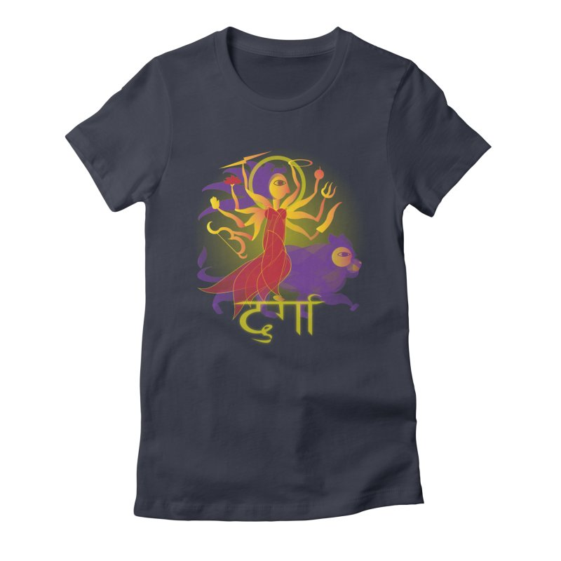 Durga Women's Fitted T-Shirt by Moon Jewel