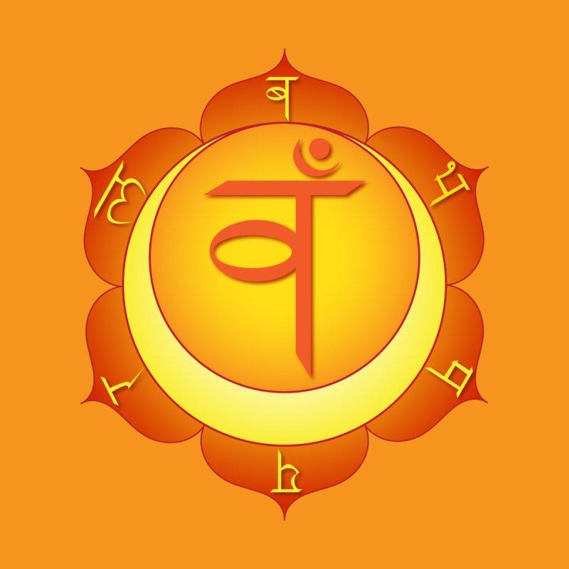 Svadhisthana: Sacral Chakra Men's V-Neck by Moon Jewel