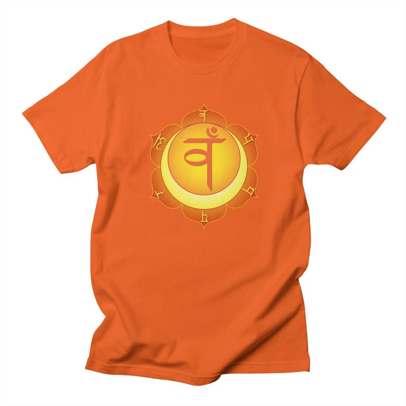 Svadhisthana: Sacral Chakra in Men's Regular T-Shirt Orange Poppy by Moon Jewel