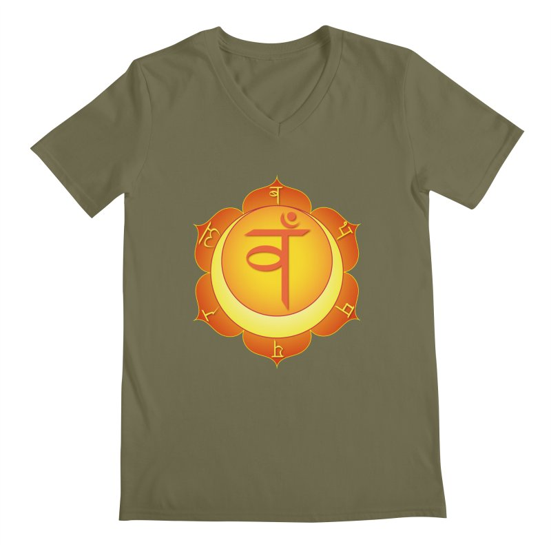 Svadhisthana: Sacral Chakra Men's Regular V-Neck by Moon Jewel