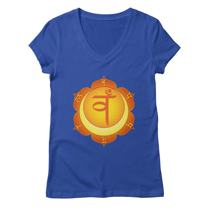 Svadhisthana: Sacral Chakra Women's Regular V-Neck by Moon Jewel