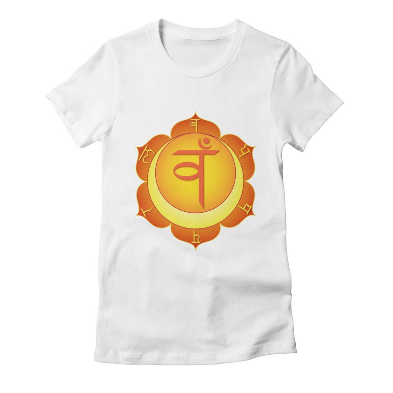 Svadhisthana: Sacral Chakra Women's Fitted T-Shirt by Moon Jewel