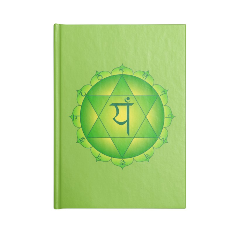 Anahata: Heart Chakra Accessories Blank Journal Notebook by Moon Jewel
