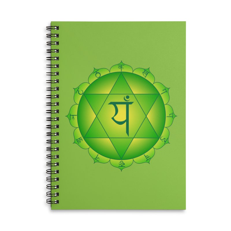 Anahata: Heart Chakra Accessories Lined Spiral Notebook by Moon Jewel
