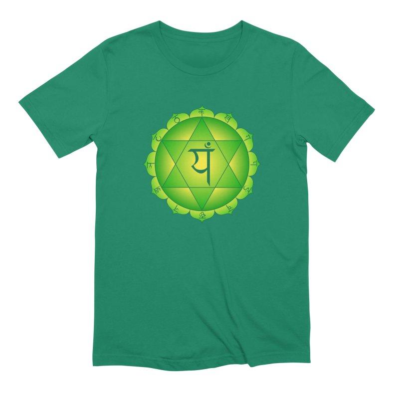 Anahata: Heart Chakra Men's Extra Soft T-Shirt by Moon Jewel