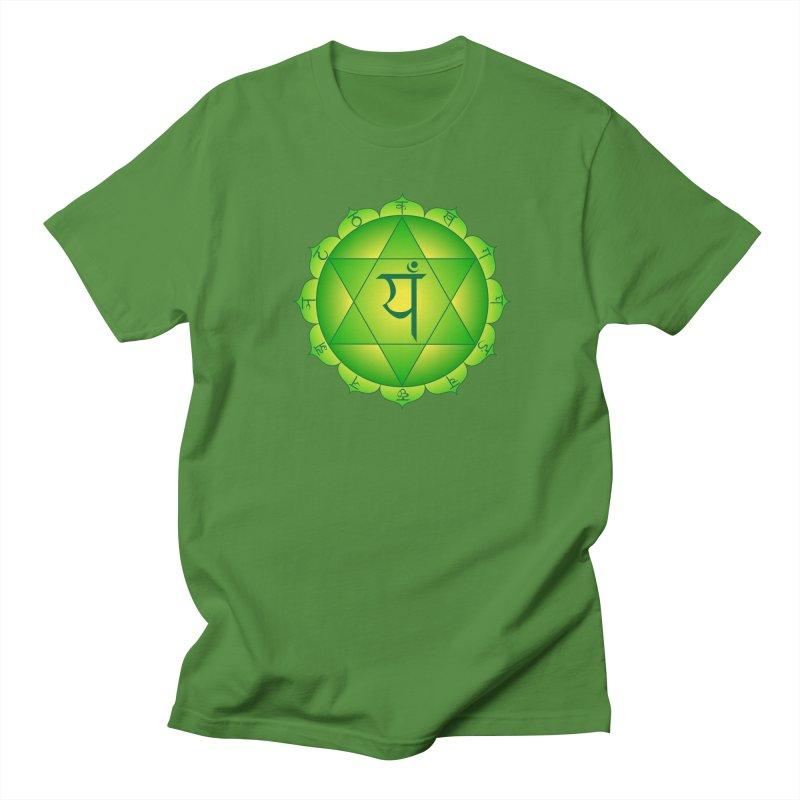 Anahata: Heart Chakra Men's Regular T-Shirt by Moon Jewel