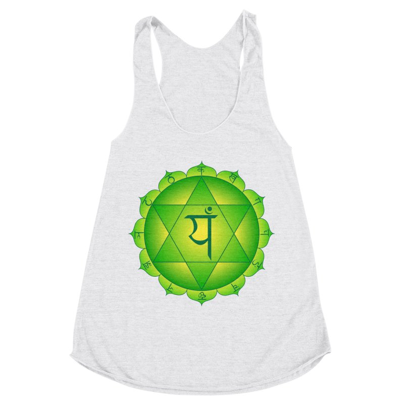 Anahata: Heart Chakra Women's Racerback Triblend Tank by Moon Jewel