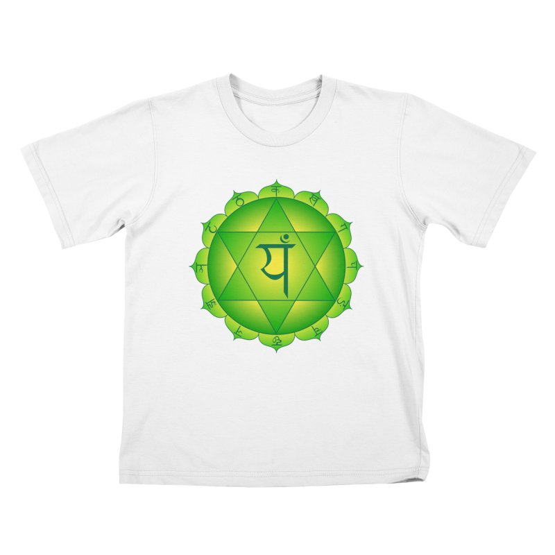 Anahata: Heart Chakra Kids T-Shirt by Moon Jewel
