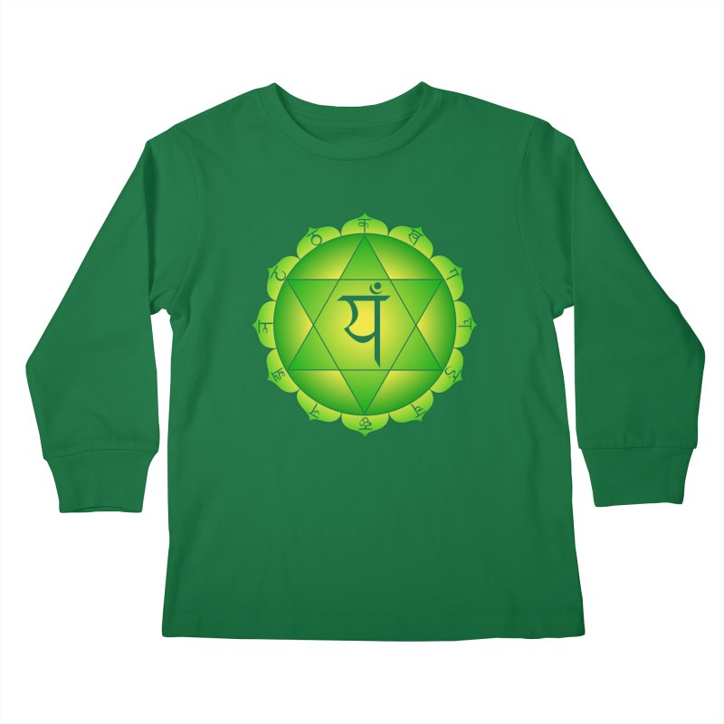 Anahata: Heart Chakra Kids Longsleeve T-Shirt by Moon Jewel