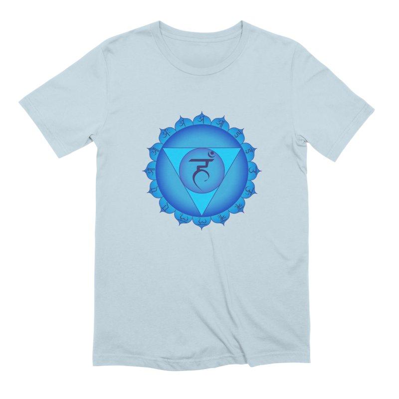 Vissuddhi: Throat Chakra Men's Extra Soft T-Shirt by Moon Jewel