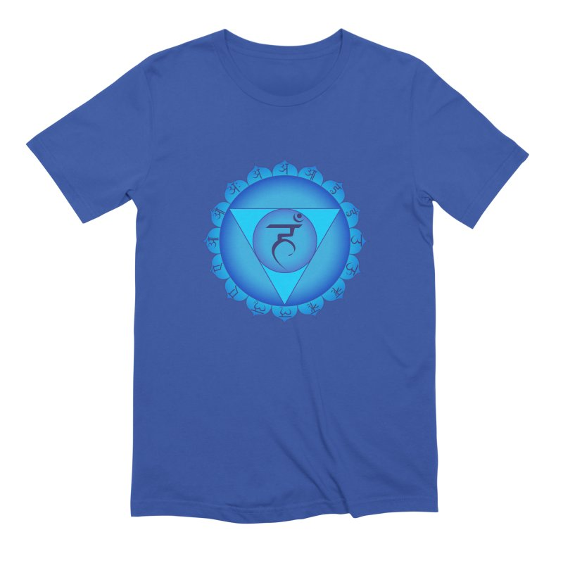 Vissuddhi: Throat Chakra Men's T-Shirt by Moon Jewel