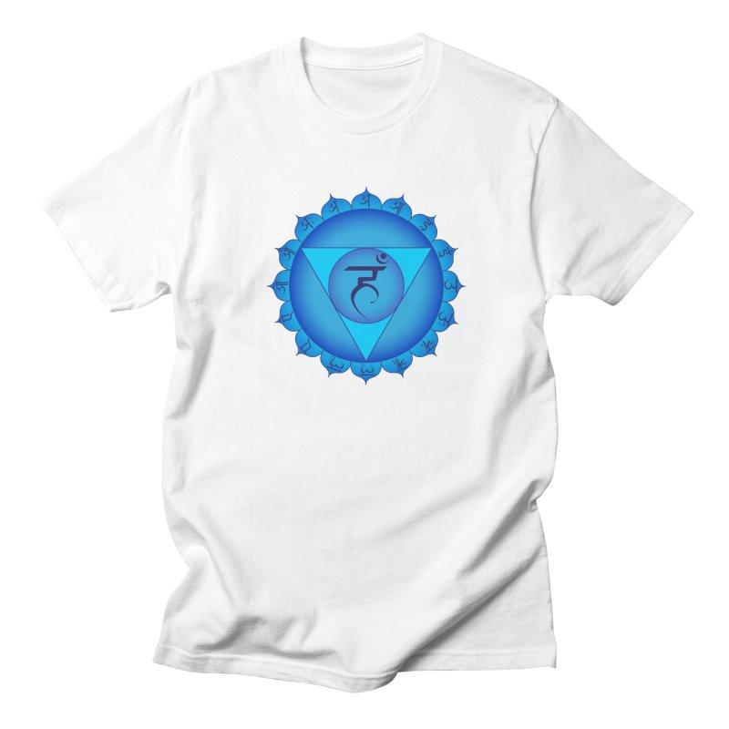 Vissuddhi: Throat Chakra Men's Regular T-Shirt by Moon Jewel