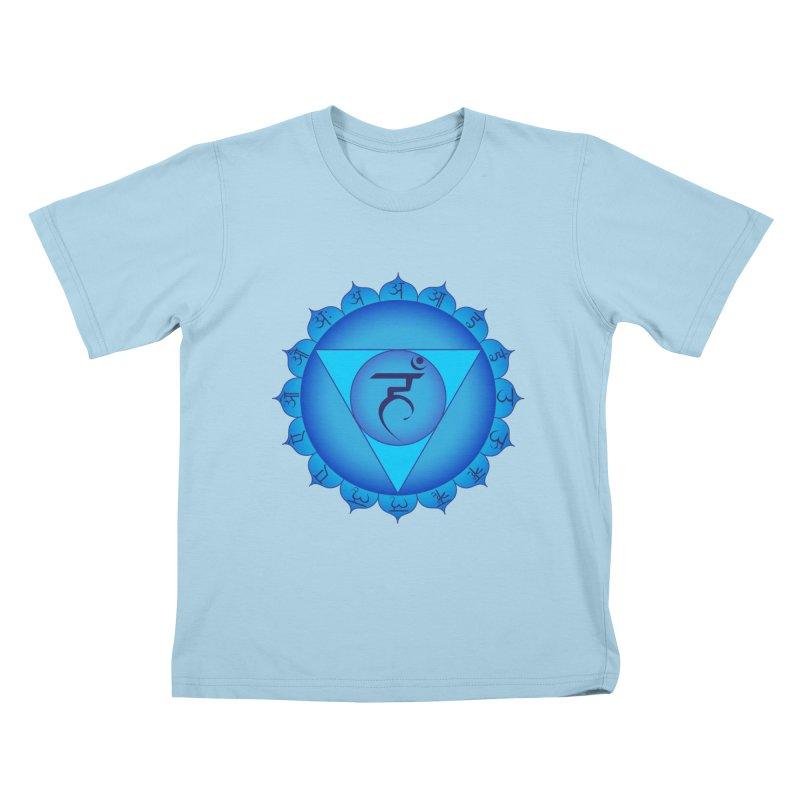 Vissuddhi: Throat Chakra Kids T-Shirt by Moon Jewel