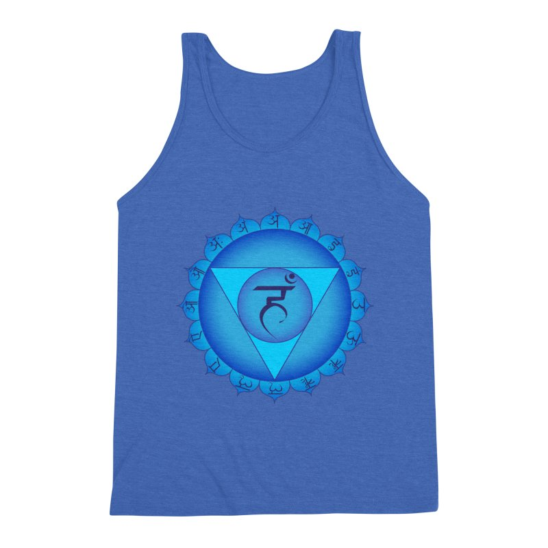 Vissuddhi: Throat Chakra Men's Triblend Tank by Moon Jewel