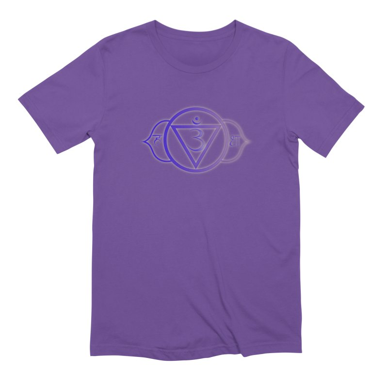 Ajna: 3rd Eye Chakra in Men's Extra Soft T-Shirt Purple by Moon Jewel