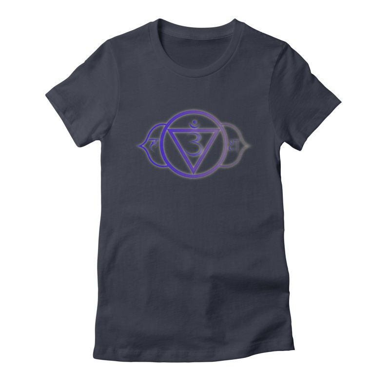 Ajna: 3rd Eye Chakra Women's Fitted T-Shirt by Moon Jewel