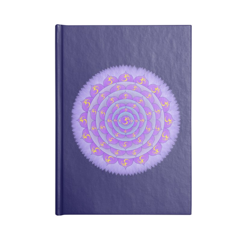 Sahasrara: Crown Chakra Accessories Lined Journal Notebook by Moon Jewel
