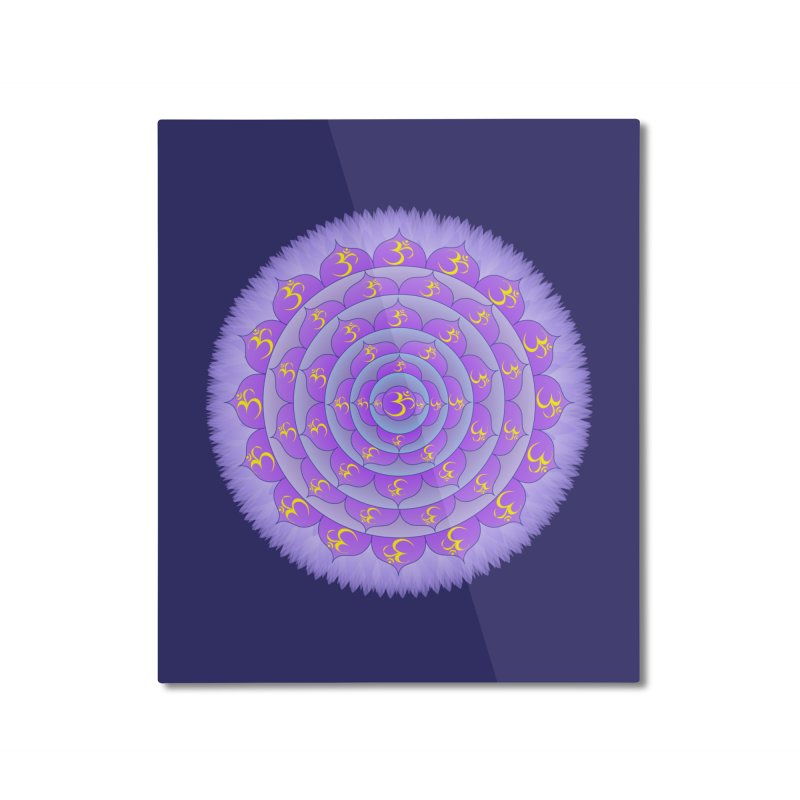 Sahasrara: Crown Chakra Home Mounted Aluminum Print by Moon Jewel
