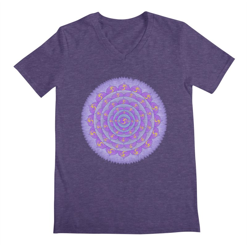 Sahasrara: Crown Chakra Men's Regular V-Neck by Moon Jewel