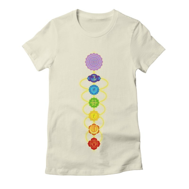 Chakras Women's Fitted T-Shirt by Moon Jewel