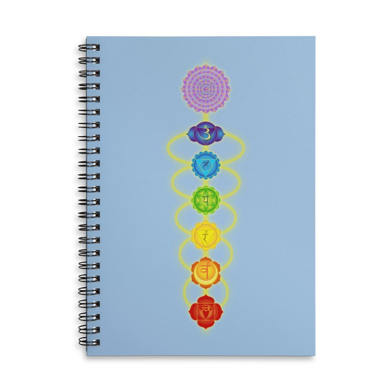 Chakras Accessories Lined Spiral Notebook by Moon Jewel