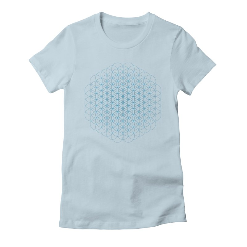 Flower of Life Women's Fitted T-Shirt by Moon Jewel
