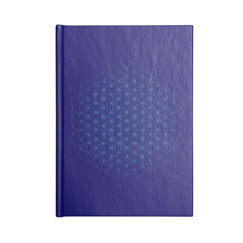 Flower of Life Accessories Blank Journal Notebook by Moon Jewel