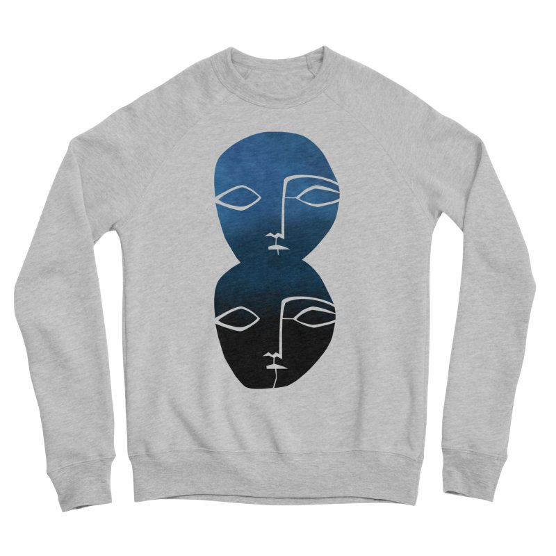 Indigo faces Women's Sweatshirt by Moroz's Artist Shop
