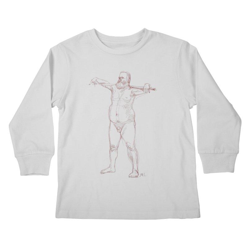 Gentleman Kids Longsleeve T-Shirt by Moroz's Artist Shop