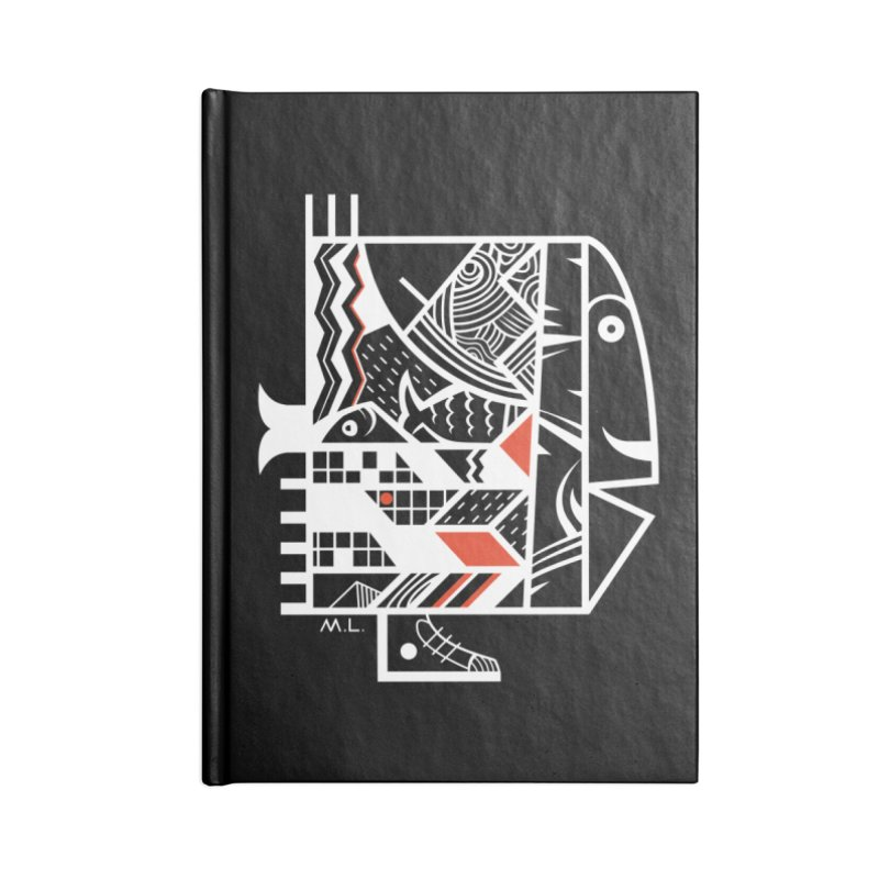 Travel  Fish Accessories Notebook by Moroz's Artist Shop
