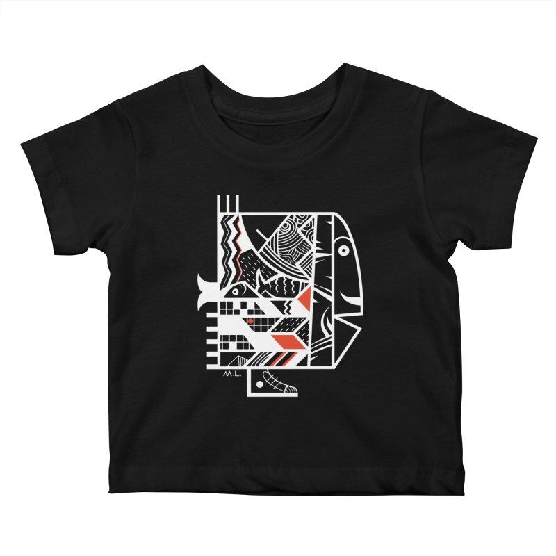Travel  Fish Kids Baby T-Shirt by Moroz's Artist Shop