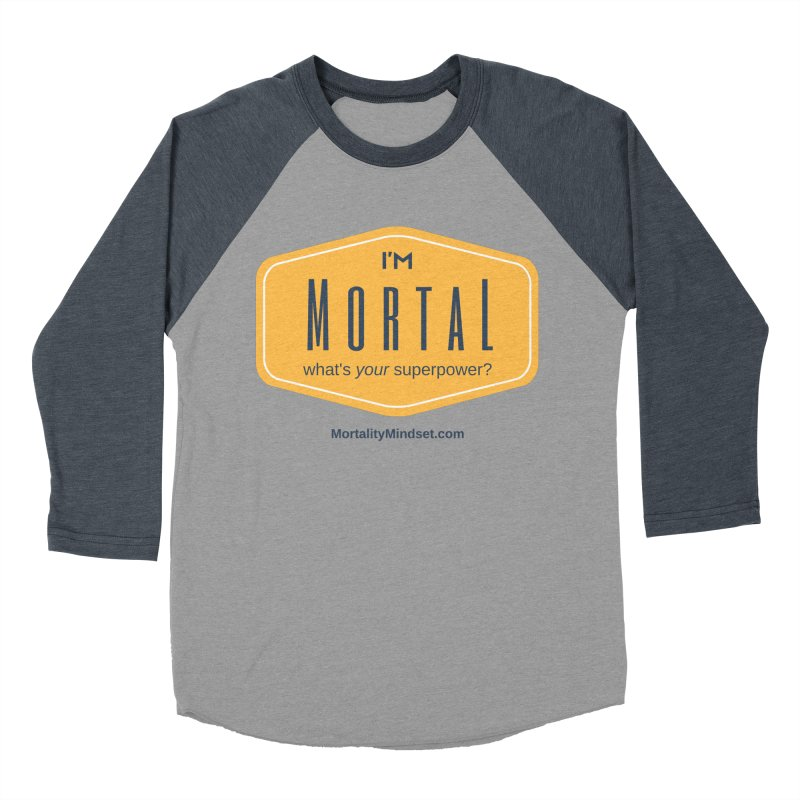 What's your superpower? Women's Baseball Triblend Longsleeve T-Shirt by The MortalityMindset Shop