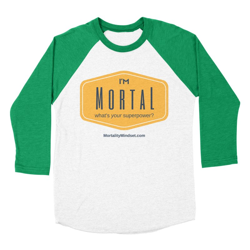 What's your superpower? Men's Baseball Triblend Longsleeve T-Shirt by The MortalityMindset Shop