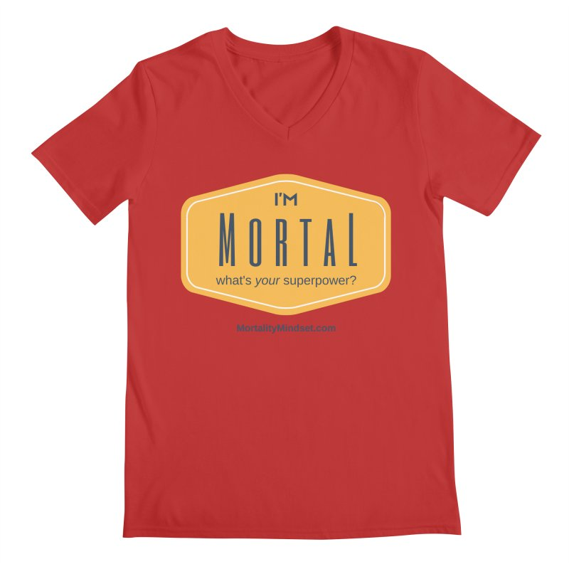 What's your superpower? Men's Regular V-Neck by The MortalityMindset Shop