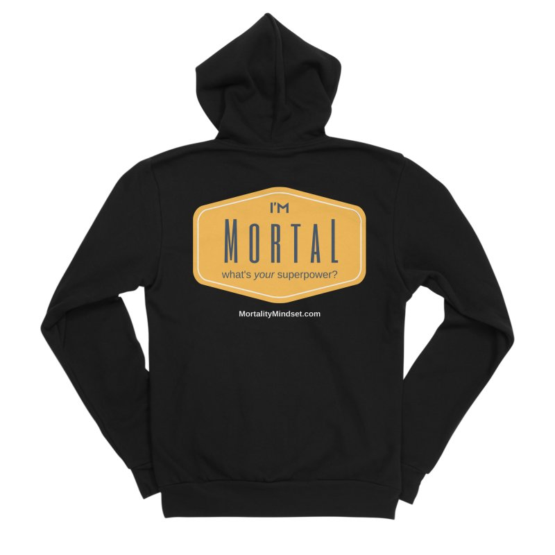 What's your superpower? (white text) Men's Sponge Fleece Zip-Up Hoody by The MortalityMindset Shop