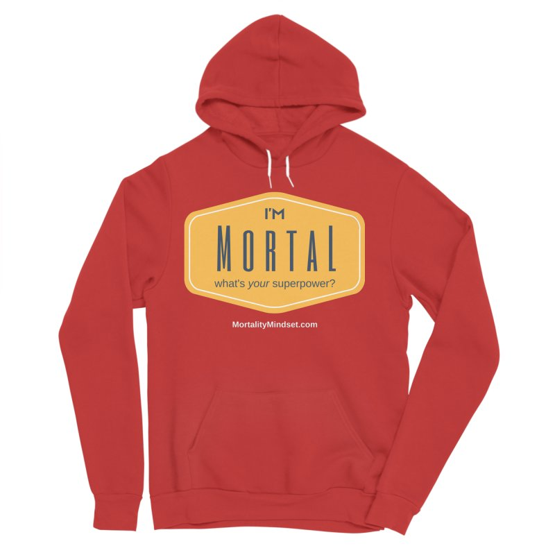 What's your superpower? (white text) Men's Pullover Hoody by The MortalityMindset Shop