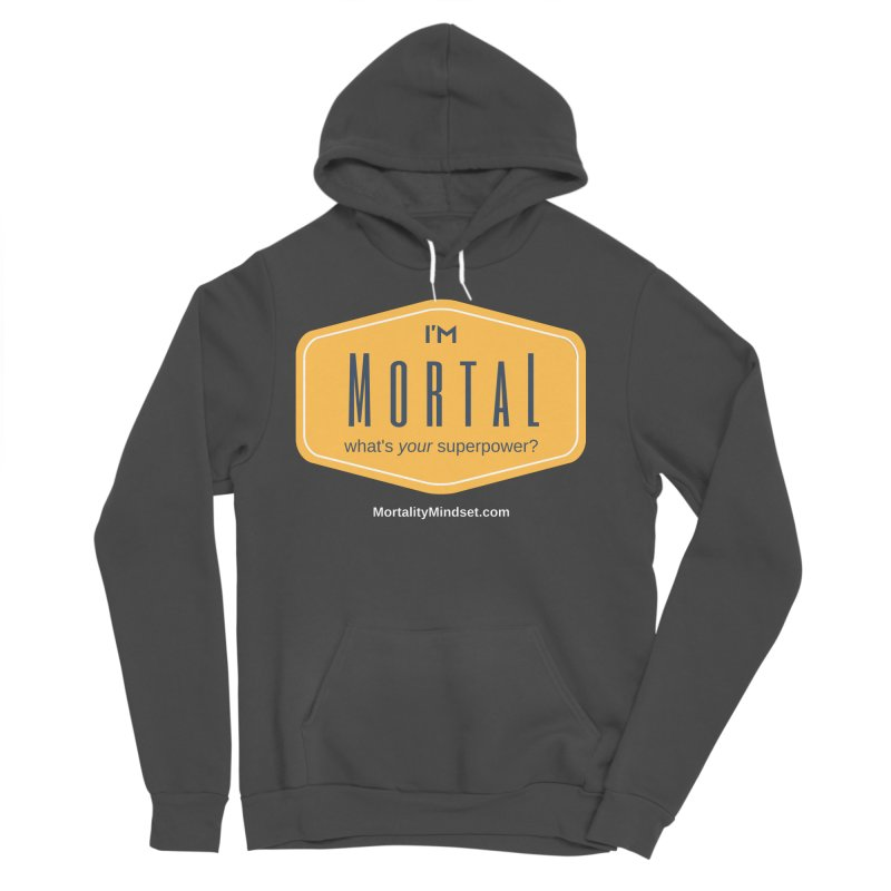 What's your superpower? (white text) Men's Sponge Fleece Pullover Hoody by The MortalityMindset Shop