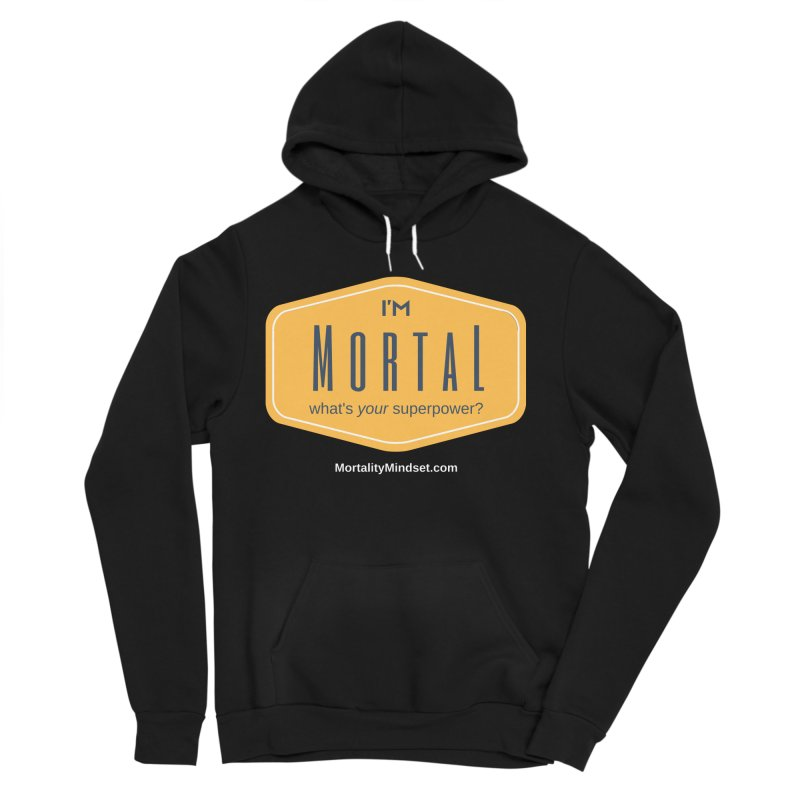 What's your superpower? (white text) Women's Sponge Fleece Pullover Hoody by The MortalityMindset Shop