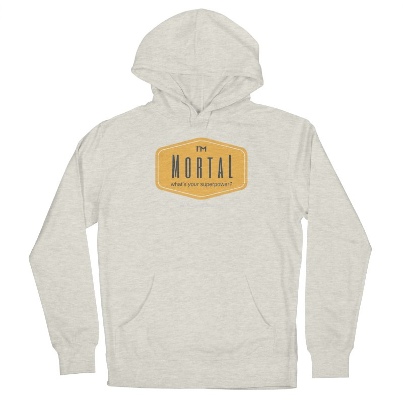 What's your superpower? (white text) Men's French Terry Pullover Hoody by The MortalityMindset Shop