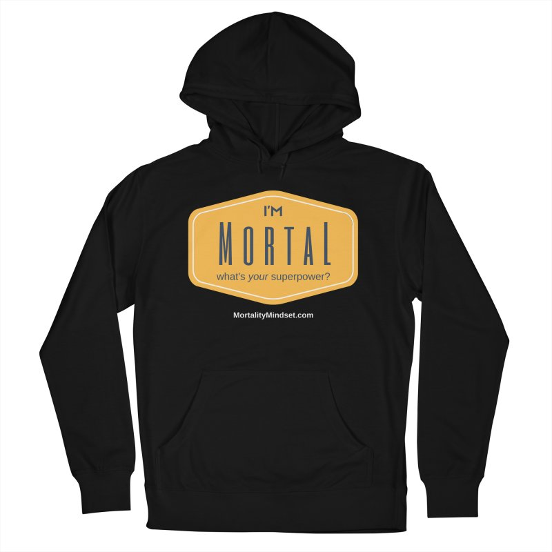What's your superpower? (white text) Women's French Terry Pullover Hoody by The MortalityMindset Shop