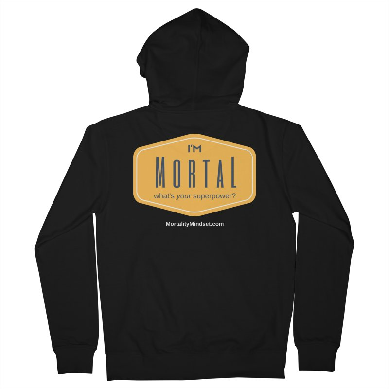 What's your superpower? (white text) Women's French Terry Zip-Up Hoody by The MortalityMindset Shop